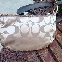 Coach Bag Signature Satin Small Hobo New W/tags Photo