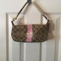 Coach Bag  Small Vinyl Coated  With Stagecoach Design  Guc Photo