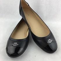 Coach Ballet Flats Black Size 9 Rh 3721 Photo