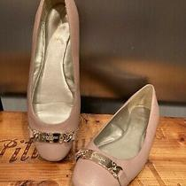 Coach Ballet Flats Slip on Shoes Size 7.5 B Nude Pink Pebble Grain Bianca Photo