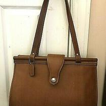 Coach Barclay British Tan Leather Doctors Bag /laptop Tote/ Briefcase. Photo