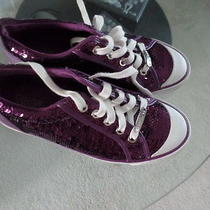 Coach Barrett Beautiful and Rare Purple Embellished Tennis Shoes Sz 7 Photo