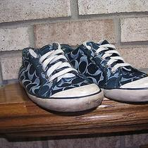 Coach Barrett Navy Blue Used Worn Womens 8.5 Sneakers  See Photos-Details Photo