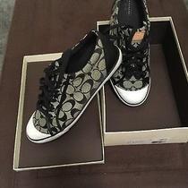 Coach Barrett Signature Women's Black Sneakers Size 12b Photo