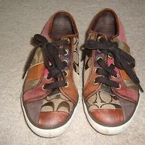 Coach Barrett Sneaker Multi-Color Shoes Size 5.5 Photo