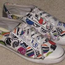 Coach Barrett Whimsical Logo Signature Sneakers Shoes  Women's Size 9 Photo