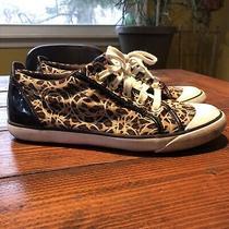 Coach Barrette Sneakers 9b Cheetah Print A1636 Photo