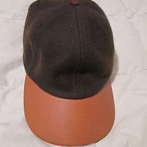 Coach Baseball Cap Hat Dark Olive Green Wool Leather Brim Womens Adjustable Photo