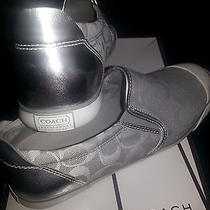 Coach  Beale   Slip on Sneakers Shoes   Silver  New in Original Box Photo