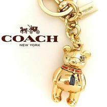 Coach Bear Keychain Bag/backpack Charm Bear  New Tag Photo