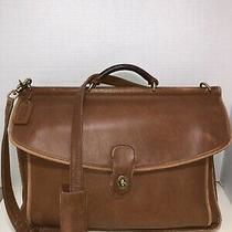 Coach Beekman 5266 Tan Leather Briefcase Messenger Bag Photo