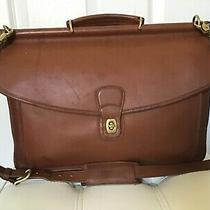 Coach Beekman Large Brown Leather 2 Way Messenger Brief in Vguc Must See Nice Photo