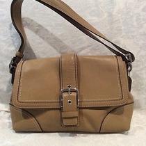 Coach Beige Leather Handbag Photo
