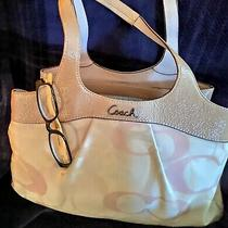 Coach Beige Pink Patent Leather  Optic Lexi Hobo Tote Shoulder Bag Purse Photo