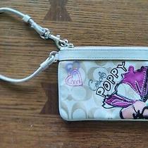 Coach Beige Poppy Signature Wristlet Wallet Photo
