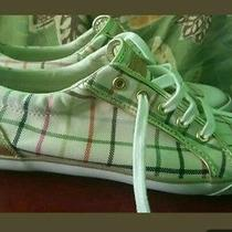 Coach Beige Striped Sneakers Size 10 Photo
