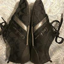 Coach Belina Size 5 Black Sneakers Shoes C Signature Photo