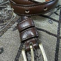 Coach Belt Skinny Brown Glove Tanned Leather Brass Buckle Women's 26. Model 2802 Photo