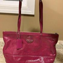 Coach Berry Purple Patent Leather Purse Photo