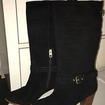 Coach Beverly Suede Black Boots Sz 8.5 Photo
