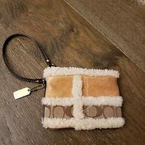 Coach Biege Leather Small Logo Wristlet Photo