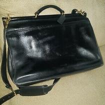 Coach Black 5266  Classic Beekman Leather Laptop Messenger Bag W/strap Photo