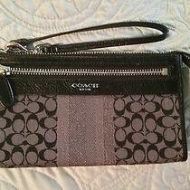 Coach Black and Charcoal Wristlet Photo