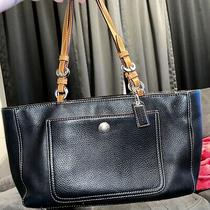 Coach Black Bag With Pink Inside Purse Photo