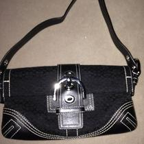 Coach Black Buckle Shoulder Bag Purse Photo