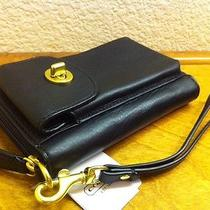 Coach Black Campbell Leather Universal Iphone Ipod Case Wallet Wristlet 50070 Photo