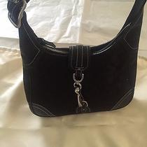 Coach Black Canvas Shoulder Handbag Photo