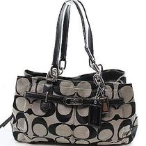Coach Black Chelsea Sateen Signature Jayden Satchel Handbag Purse 298- 099 Photo