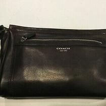 Coach Black Clutch Leather Handbag Photo
