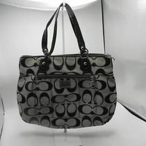 Coach Black Designer Handle Shoulder Large Handbag Tote Purse -  17890 Photo