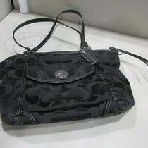 Coach Black Designer Handle Shoulder Large Handbag Tote Purse - F13139 Photo