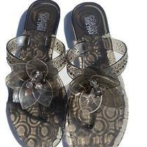 Coach Black Flower Jelly Split Toe Sandals Size 8 Photo