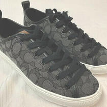 Coach Black Friday Sale Low Top Smoke/black Fashion Sneakers 7b Msrp 149 Nwt Photo