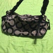 Coach Black & Grey Shoulder Purse Photo