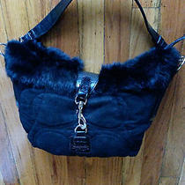 Coach Black  Hobo  Rabbit Fur Bag  Photo