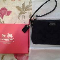 Coach Black in Box Wristlet Photo