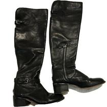 Coach Black Knee High Boots 7 Photo
