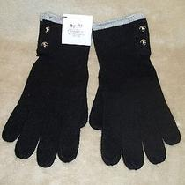 Coach Black Knit Gloves New With Tag Heritage Glove Photo