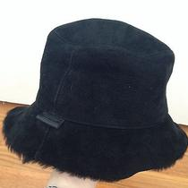 Coach Black Lamb Shearling Winter Hat Cap P/s Small Excellent Warm Photo