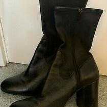 Coach Black Leather Ankle Boots (Resoled and Polished) Photo