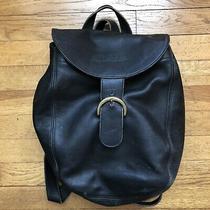Coach Black Leather Backpack Photo