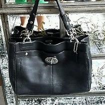 Coach Black Leather Bag  Photo