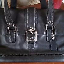 Coach Black Leather Bag Photo