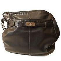 Coach Black Leather  Bag Purse  G1173-17816. Nice Photo