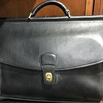 Coach Black Leather Beekman Laptop Briefcase Travel Bag C6c-5266 16 X 13 Photo