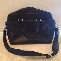 Coach Black Leather Briefcase/computer Bag Photo